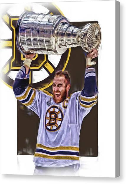 Boston Bruins Canvas Print - Zdeno Chara Boston Bruins Oil Art by Joe Hamilton
