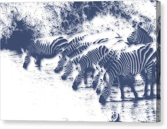 Zebras Canvas Print - Zebra 3 by Joe Hamilton