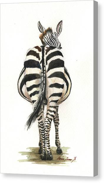Back Canvas Print - Zebra Back by Juan Bosco