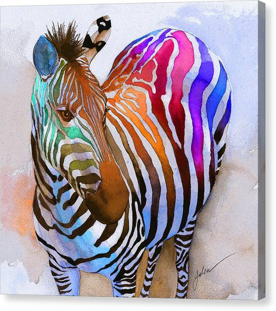Rainbows Canvas Print - Zebra Dreams by Galen Hazelhofer