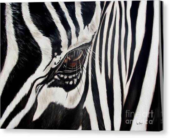 African Canvas Print - Zebra Eye by Ilse Kleyn