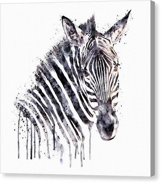 Zebras Canvas Print - Zebra Head by Marian Voicu