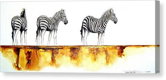 Zebra Trio - Original Artwork Canvas Print
