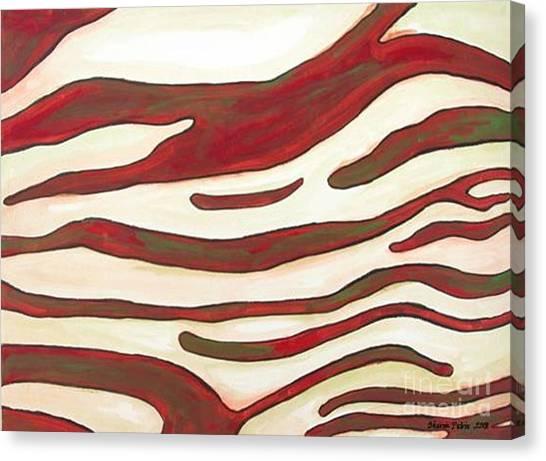 Zebra Zone - Color On White Canvas Print