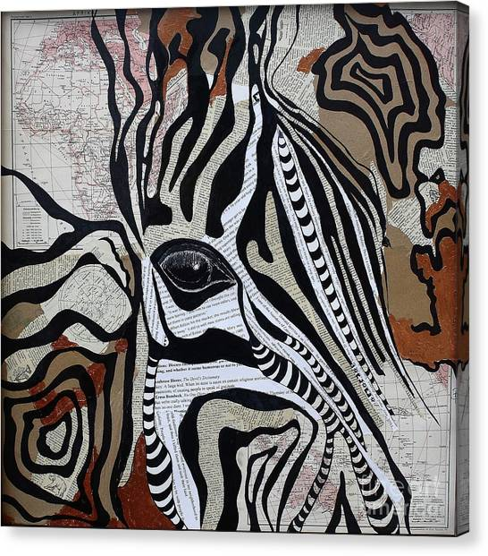 Zebroid Canvas Print