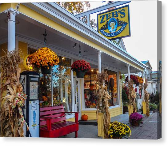 Zebs General Store, North Conway 1 Canvas Print