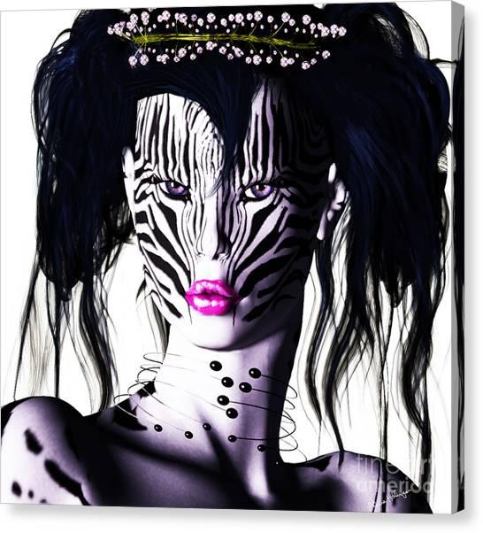 Zeeebra Canvas Print