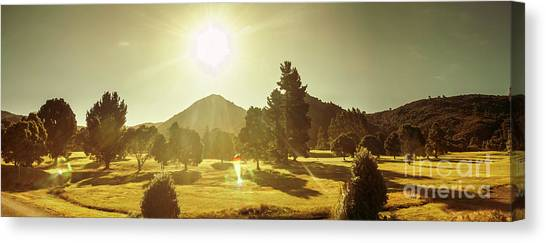 Zeehan Golf Course Canvas Print