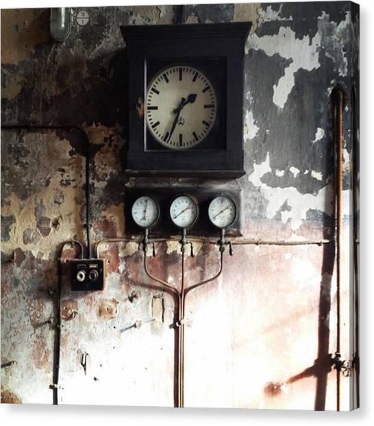 Industrial Canvas Print - Zeitmaschine #time #clock #industrial by Sabina Balaguer