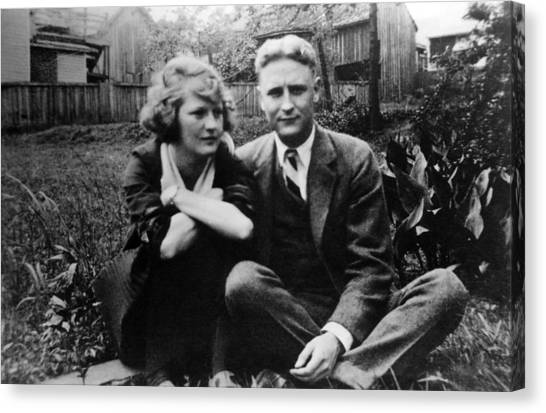 Zelda Canvas Print - Zelda Fitgerald And F.scott Fitzgerald by Everett