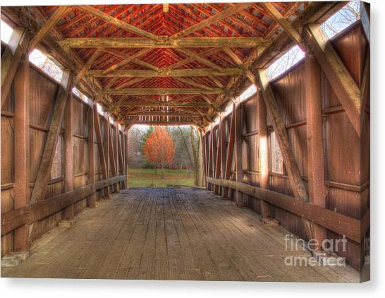Sycamore Park Covered Bridge Canvas Print