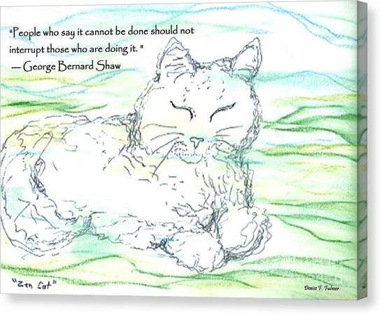 Zen Cat Canvas Print