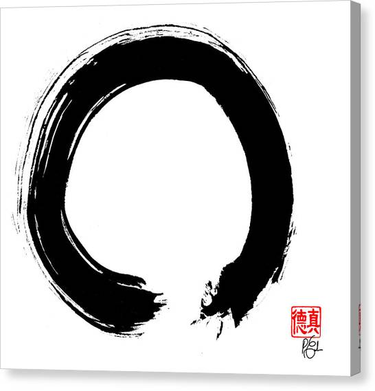 Buddha Canvas Print - Zen Circle Five by Peter Cutler