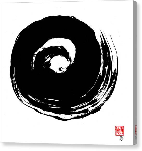 Zen Circle Wave Canvas Print