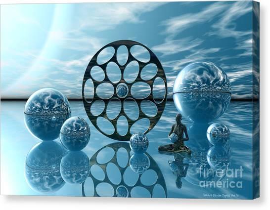Canvas Print featuring the digital art Zen Moment by Sandra Bauser Digital Art