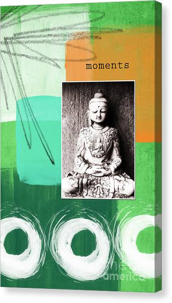 Buddha Canvas Print - Zen Moments by Linda Woods