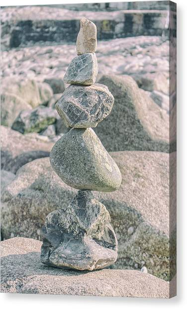 Peace Tower Canvas Print - Zen Rocks by Martin Newman