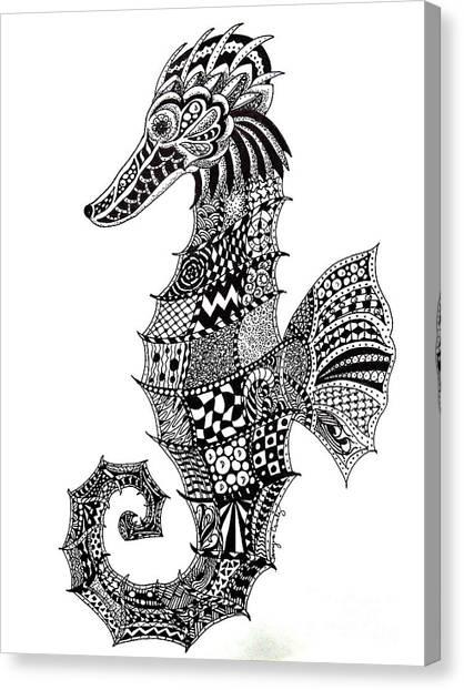 Zen Seahorse Canvas Print