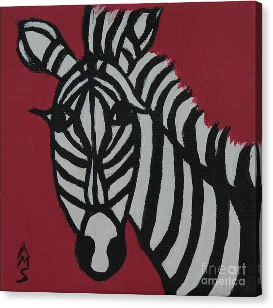 Zena Zebra Canvas Print