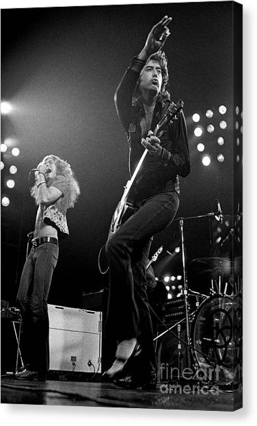 Jimmy Page Canvas Print - Zeppelin Rocks by Pd