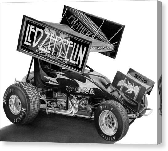 Zeppelin Sprinter Canvas Print by Lyle Brown