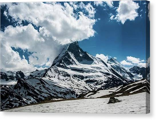 Matterhorn Canvas Print - #zermatt #switzerland #hiking #bluesky by Natus Valais