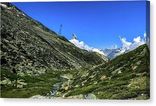 Matterhorn Canvas Print - #zermatt #switzerland #valais by Natus Valais