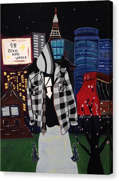 Japanese Canvas Print - Zero And Under Goes To Tokyo by Annie Walczyk