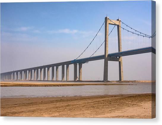 Zhengzhou Taohuayu Huanghe Bridge  Canvas Print