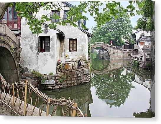 Zhouzhuang - A Watertown Canvas Print
