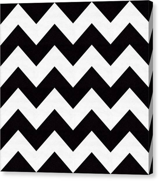 Pattern Canvas Print - Zig Zag Pattern by Chuck Staley