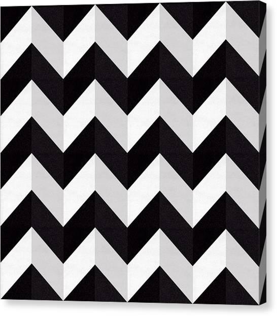 Pattern Canvas Print - Zig Zag - Shadow by Chuck Staley