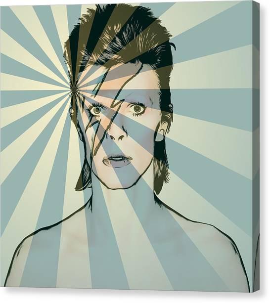 David Bowie Canvas Print - Ziggy by Dan Sproul