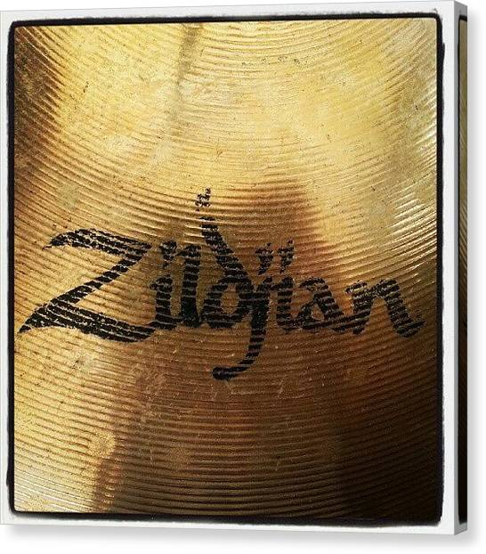 Drums Canvas Print - #zildjian #drums #drummer #cymbal by Bradley Whitehead