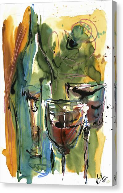 Wine Art Canvas Print - Zin-findel by Robert Joyner