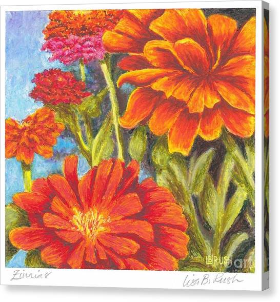 Zinnias Canvas Print