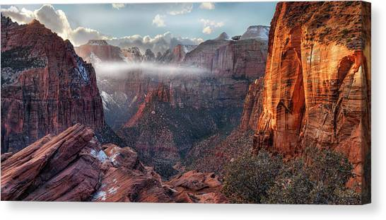 Zion Canyon Grandeur Canvas Print