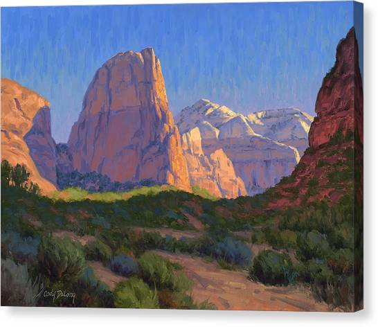 Red Rock Canvas Print - Zion Light Show by Cody DeLong