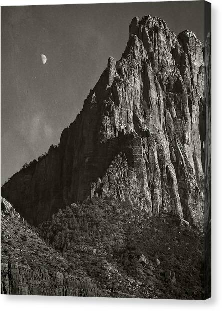 Zion Moonrise Canvas Print by Mike McMurray