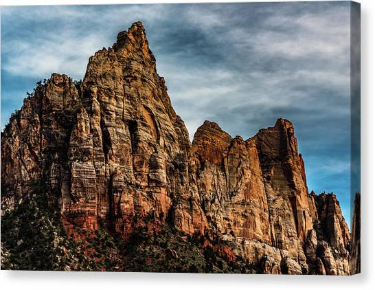 Zion Mountains 2c Canvas Print by Don Risi