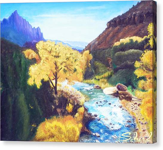Zion's In Autumn Canvas Print