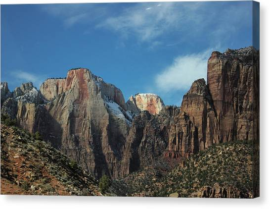 Zion's Rock Towers Canvas Print