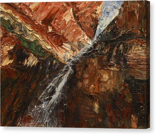 Zions Waterfall Canvas Print