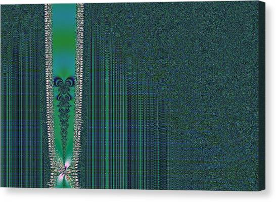 Zipper With Tattoo Canvas Print by Thomas Smith