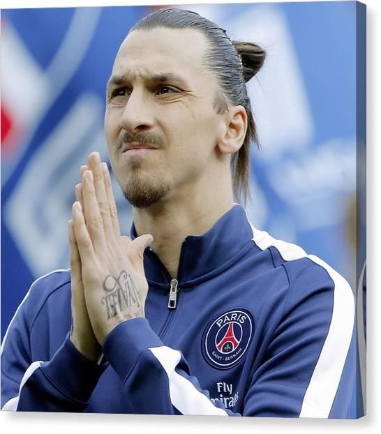 Zlatan Ibrahimovic Canvas Print - Zlatan Ibrahimovic Paris Saint Germain Football Player 100974 2048x2048 by Mery Moon