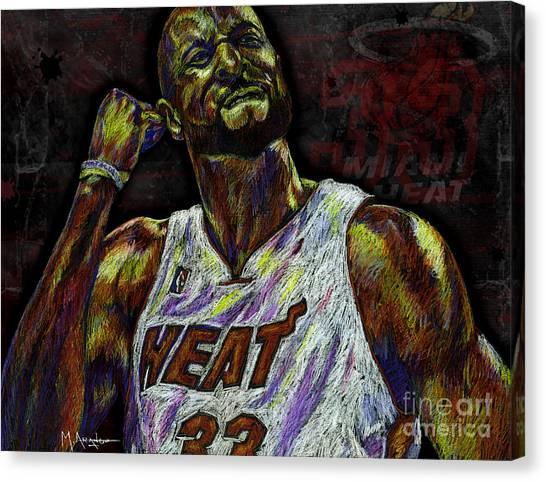 Miami Heat Canvas Print - Zo by Maria Arango