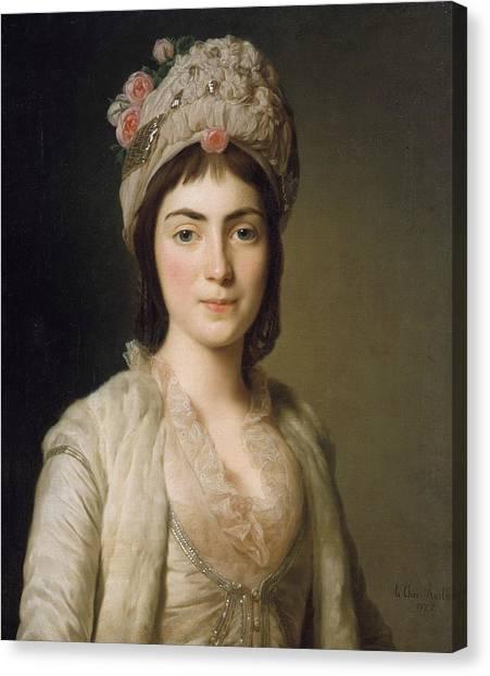 Rococo Art Canvas Print - Zoie Ghika, Moldavian Princess by Alexander Roslin