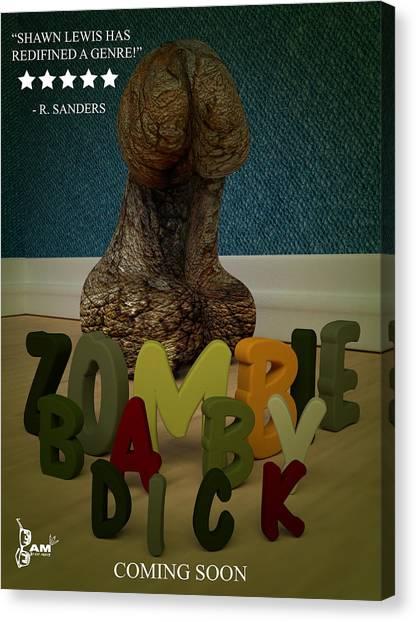 Zombie Baby Dick Canvas Print by Robert Sanders