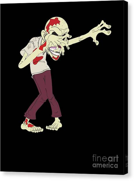 Canvas Print - Zombie Dabbing Halloween Costume by Thomas Larch