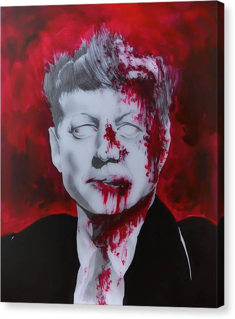 Call Of Duty Canvas Print - Zombie Jfk by Sarah Murabito